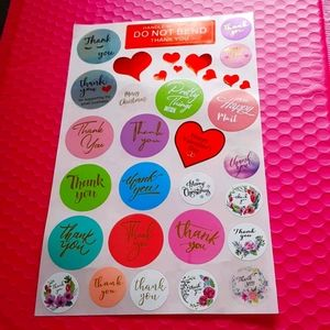 33 pcs Mix of Thank You Stickers